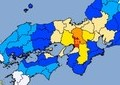 大阪で震度6弱、京都で5強、兵庫・奈良・滋賀で5弱の地震