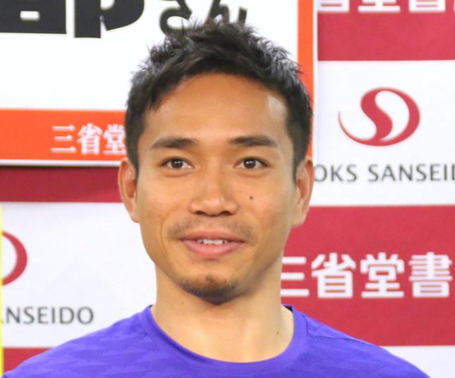 黒髪時代の長友選手(写真は2016年12月撮影)