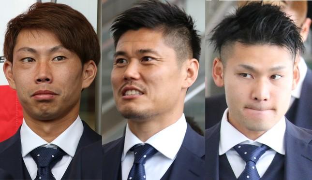 日本代表GKの(左から)東口順昭、川島永嗣、中村航輔