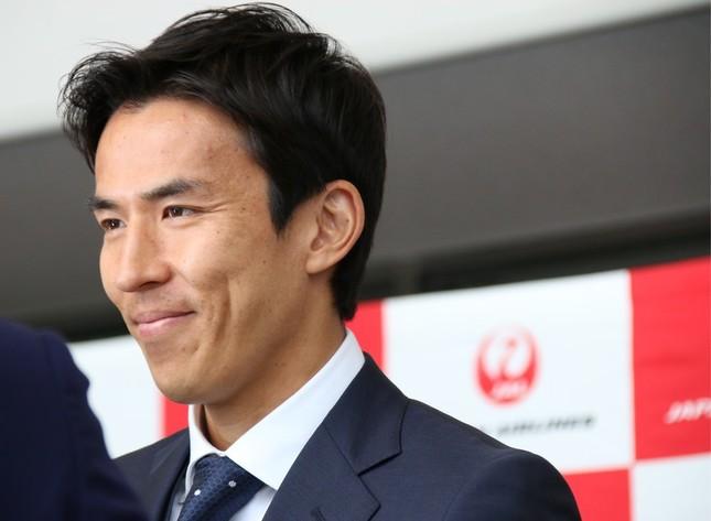 主将の長谷部誠選手が帰国記者会見に出席した(写真は2018年6月2日撮影)