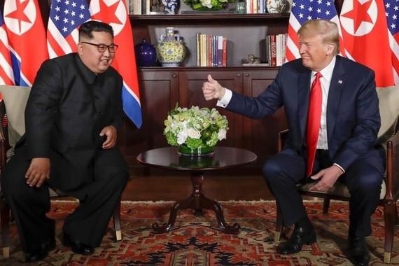 米朝首脳会談で合意した「朝鮮半島の完全な非核化への断固として揺るがない決意」はどうなるのか(写真はポンペオ国務長官のツイッターから)
