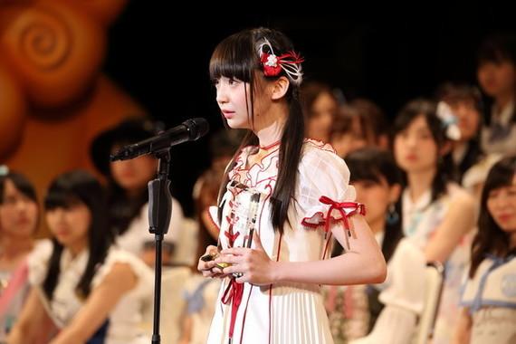 NGT48の荻野由佳さん。2018年の選抜総選挙では4位にランクインした(2017年6月撮影)