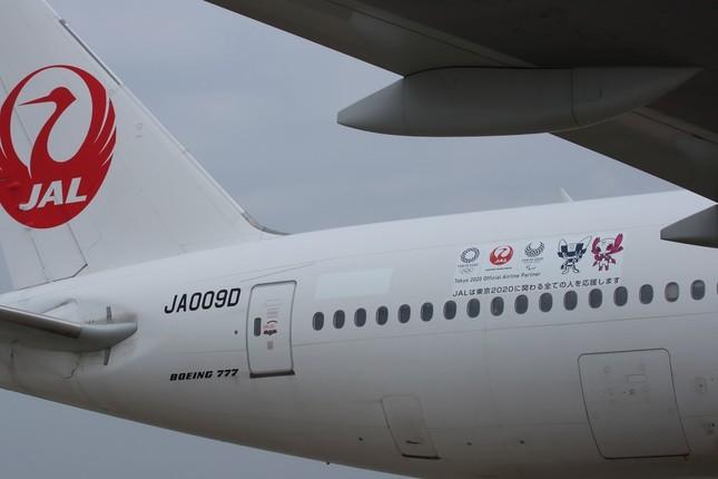 マスコット入りの飛行機も就航。大会終了まで全国の空で運航される