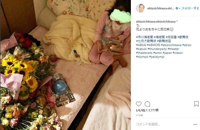 海老蔵さんは24日夜、麗禾ちゃんに大量の花を用意していたが…(画像は海老蔵さんのインスタグラムより)