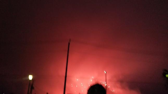火災現場のように見えるなどの感想も漏れていた(写真はツイッターより。使用許諾を得て掲載しています)