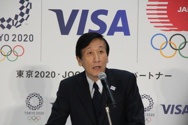 Visa・安渕聖司社長(2018年7月26日撮影)