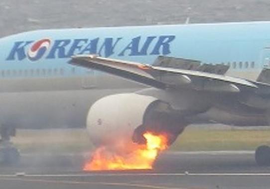 2016年の大韓航空機事故では約40人が軽傷を負った(写真は運輸安全委員会の報告書から)