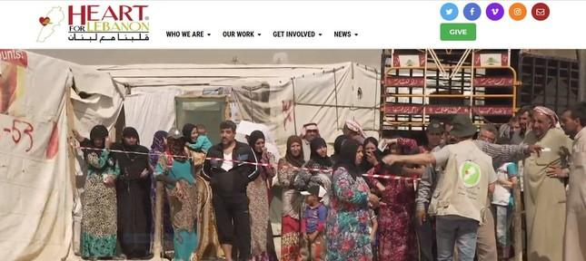 シリア難民を支援する団体「Herat for Lebanon」のホームページ