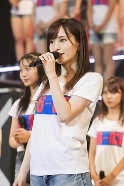 卒業発表するNMB48の山本彩さん(c)NMB48