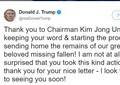 北朝鮮が返還した米兵遺骨55柱、「認識票」1つだけ それでもトランプ氏、正恩氏は「約束守った」