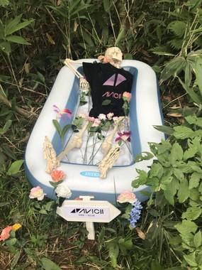 Aviciiさんの「骸骨」もあった。写真はなっちょ(@boc_nova_yk)さん提供
