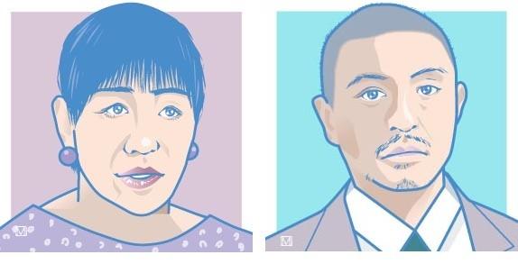 和田アキ子さん(左)と松本人志さん(右)