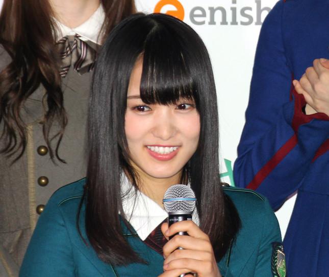 欅坂46の菅井友香さん(写真は2017年7月撮影)