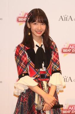 AKB48の柏木由紀さん。「音ゲーマニア」を自任している
