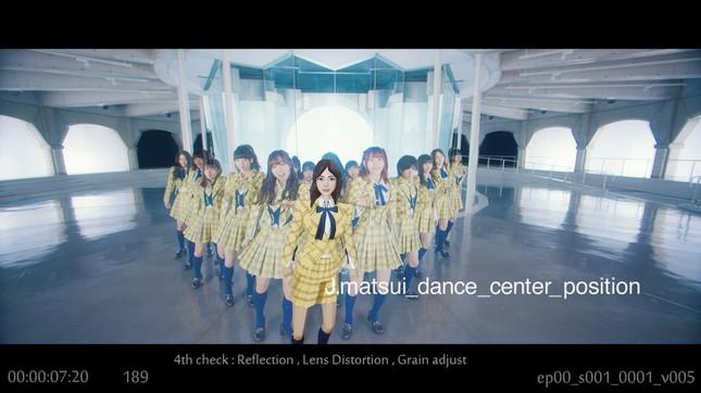 ダンスシーンの一部には松井珠理奈さんがCGで登場する (c)AKS/キングレコード