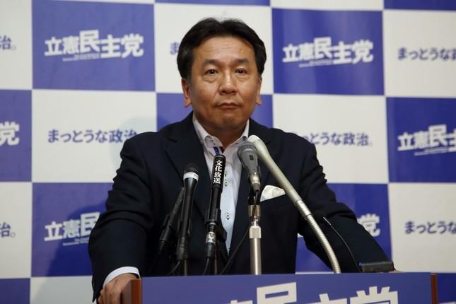立憲民主党の枝野幸男代表(2018年7月撮影)