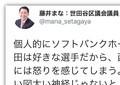 柳田「打球直撃」つぶやいたら... 謝罪に追い込まれた世田谷区議