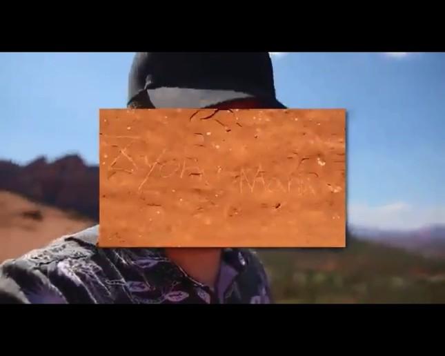 「ZyonMana」の落書き(画像は削除されたYouTube動画のワンシーン)