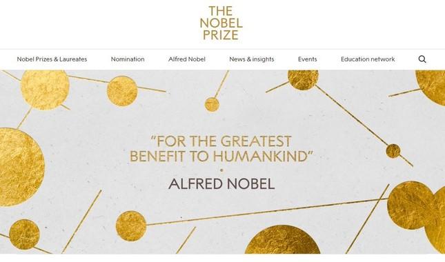 ノーベル経済学賞が決まった(画像は「ノーベル賞」公式サイトより)