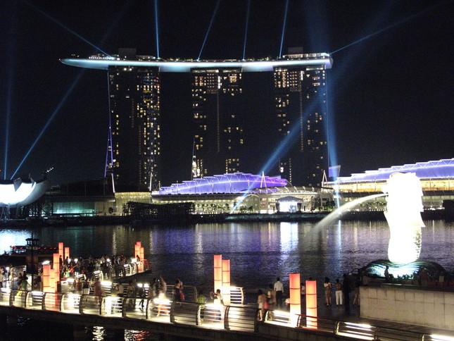 「ラスベガス・サンズ」が経営するシンガポールの「マリーナ・ベイ・サンズ」。サンズをめぐる「口利き」はあったのか