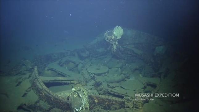 海底に沈む「武蔵」の動画を配信した(画像はYouTubeより)
