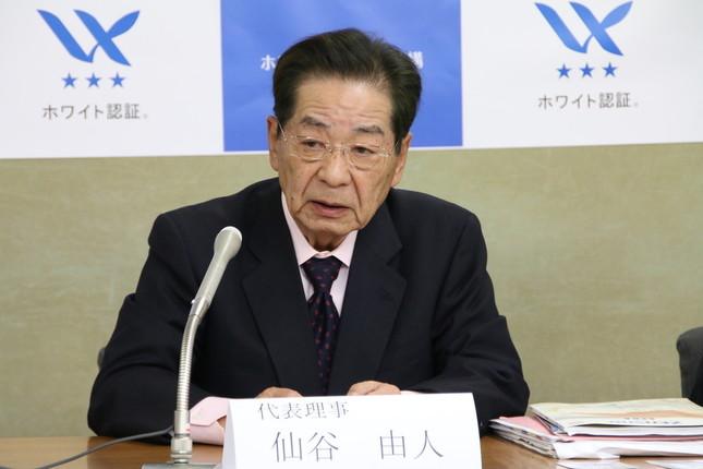 仙谷由人さん。民主党の菅政権では内閣官房長官を務めた(2017年撮影)