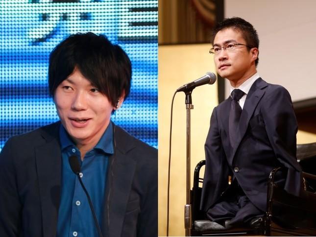 古市憲寿さん(2016年6月撮影)と、乙武洋匡さん(16年4月撮影)