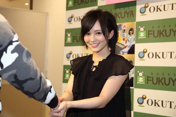 NMB48の山本彩さん。8年間にわたるアイドル生活に別れを告げた(2016年2月撮影)