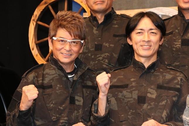 哀川翔さん(写真左)と矢部さん(同右)(2018年11月撮影)