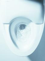 TOTOの最新式トイレ。見た目も美しい。ちなみに「ウォシュレット」という名前は同社の登録商標