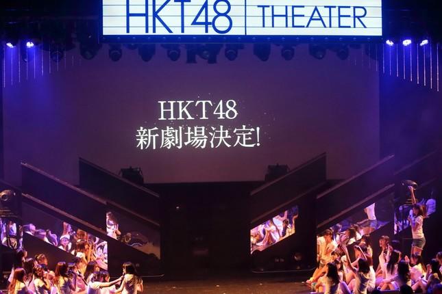 新劇場のオープンは7周年記念特別公演の最後にサプライズで発表された。飛び上がって喜ぶメンバーもいた