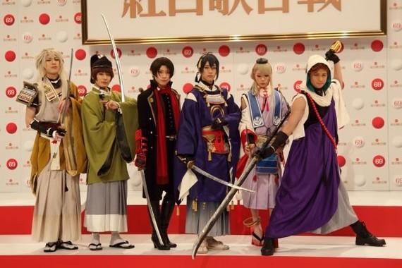 「第69回NHK紅白歌合戦」に出場する「刀剣男士」(2018年11月撮影)