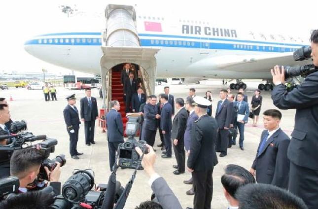 2018年6月の首脳会談では、金正恩・朝鮮労働党委員長は中国から借りたボーイング747型機を利用した(写真は労働新聞から)