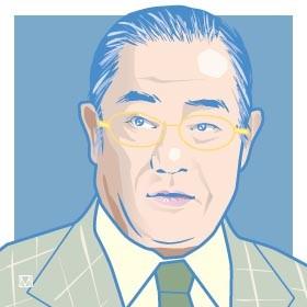 イラストは、TBS系「サンデーモーニング」でお馴染みの張本勲氏