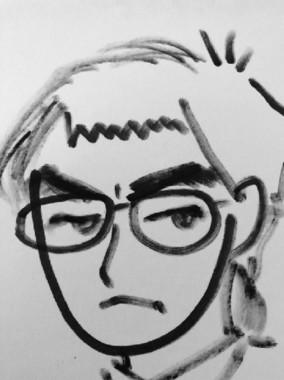 理恵さんが描いた羽生竜王のイラスト(画像は理恵さんのツイッターから)
