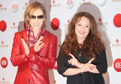 YOSHIKIさんとサラ・ブライトマンさん(2018年12月30日撮影)