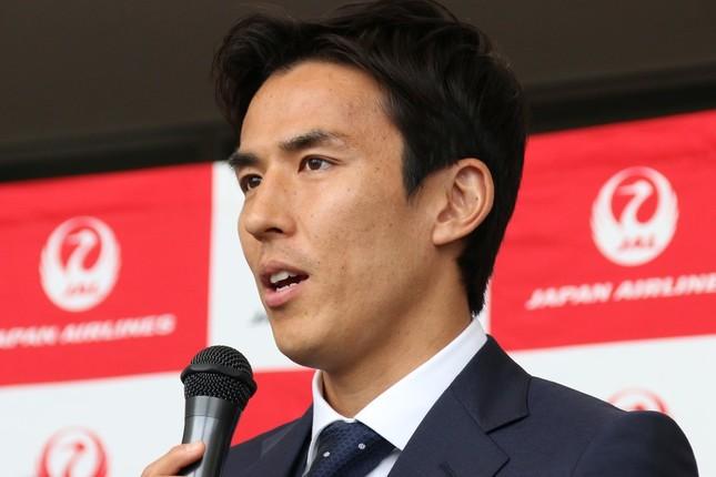 サッカーの長谷部誠選手(2018年6月撮影)