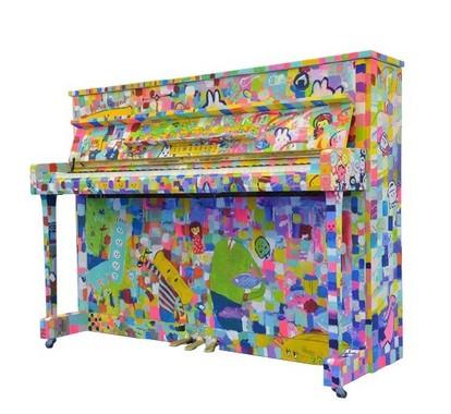 品川駅に展示されていたピアノ(ニュースリリースより)