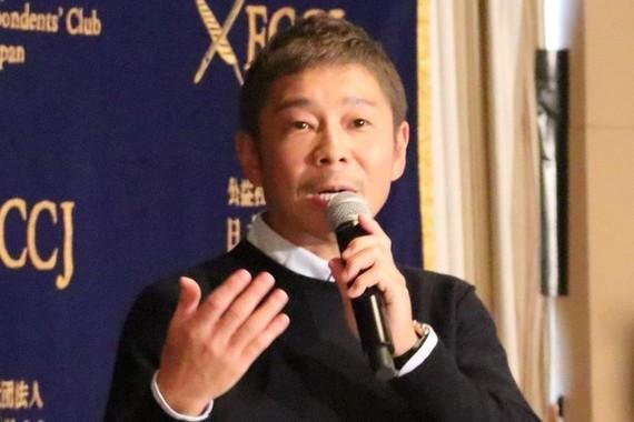 前澤友作社長(2018年10月撮影)