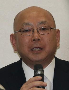 池江選手を指導予定の上野広治日大監督も会見