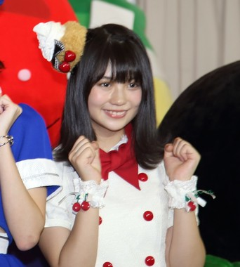 愛知県のPRイベントに出席したSKE48の小畑優奈さん(2017年10月撮影)
