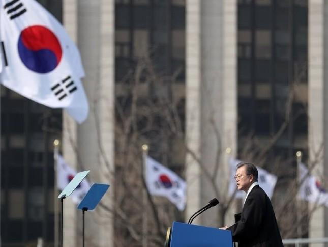 文在寅(ムン・ジェイン)大統領の3月1日の演説でも「親日」という言葉が登場した(写真は青瓦台のウェブサイトから)