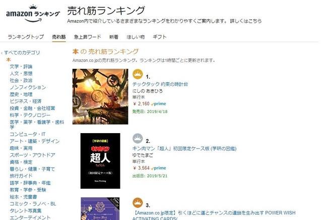 Amazon「本の売れ筋ランキング」より
