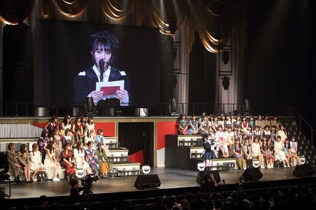 コンサートでは多くのメンバーが向井地さんのスピーチに聞き入った