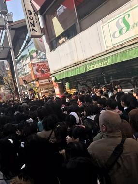 3月26日の竹下通りの様子(読者提供)