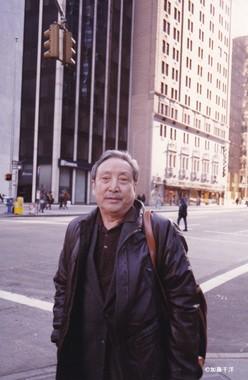 ニューヨークの街角で別れた劉賓雁、1995年1月)