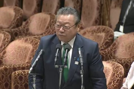 五輪担当大臣を辞任した桜田義孝氏(2018年秋の衆院インターネット中継より)