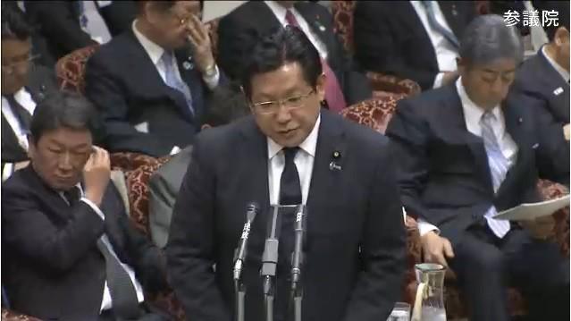 4月4日の参院決算委員会で答弁する塚田一郎氏(写真は、参院インターネット審議中継サイトから)