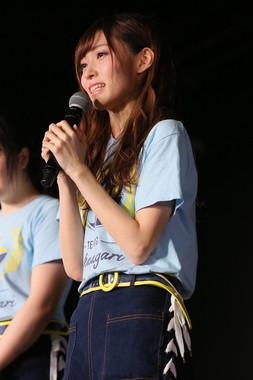 劇場公演でグループからの卒業を発表するNGT48の山口真帆さん(c)AKS