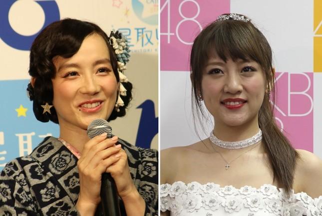 篠原ともえさん(左、2018年撮影)と高橋みなみさん(右、2016年撮影)